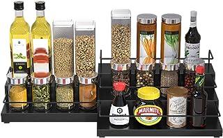 Spice Rack Organizer, SdeNow Scalable Spice Rack 3-Tier Stainless Steel Kitchen Rack Organizer Counter Stor...