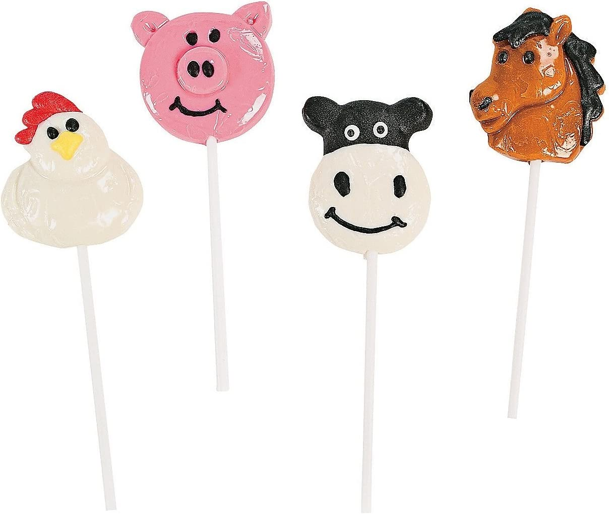 Horse Limited Special Price Cow Pig and Chicken Outlet ☆ Free Shipping Farm 12 Animal In - Pieces Suckers