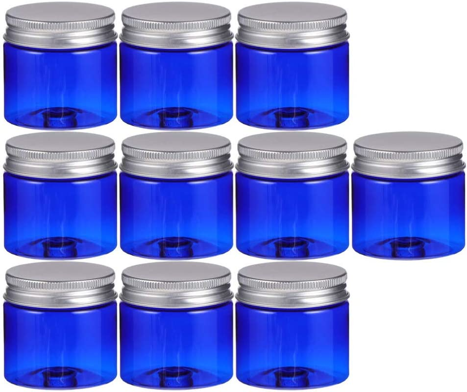 HEALLILY Indefinitely 10Pcs Plastic Empty Phoenix Mall Cases Containers Aluminum Cosmetic