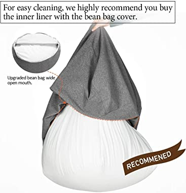cozypark Zipper Bag Liner Bag Waterproof Lazy Bean Bag Sofas Inner Lining Easy to Clean Chair Cover and Stuffed Animal Toy (C