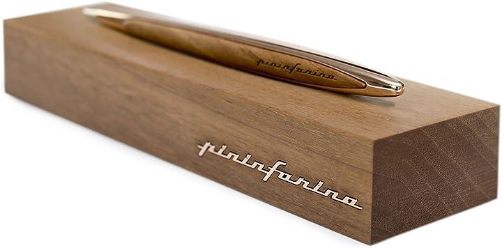 Penna  pininfarina cambiano gold edition- stilo con puntale in ethergraf - oro rosa NPKRE01579