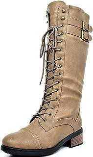 Women's Pu Knee High Riding Combat Boots