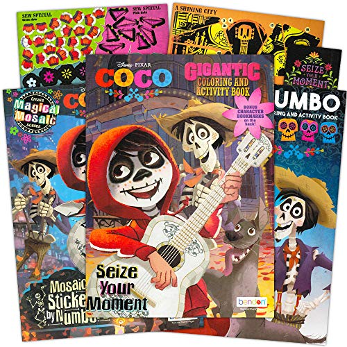 Disney Pixar Coco Coloring and Activity Sticker Book Super Set ~ Bundle Includes 3 Deluxe Coco Books