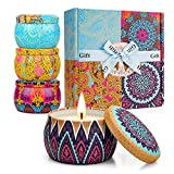 Mothers day gifts Women Scented Candles Gift Set,100%Handmade Soy Wax with Essential Oils for Stress Relief, Women Gifts for Bath, Yoga, Candle for Scented, Perfect for Mother's Day, Birthday, Wedding