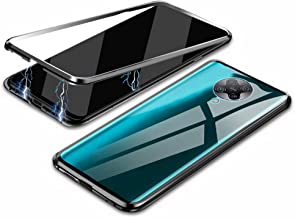 """EUDTH Redmi K30 Pro Case, 360° Full Body Magnetic Adsorption Metal Frame Flip 9H Tempered Glass [Front and Back] Full Screen Coverage Protective Case Cover for Xiaomi Redmi K30 Pro 6.67"""" -Black"""