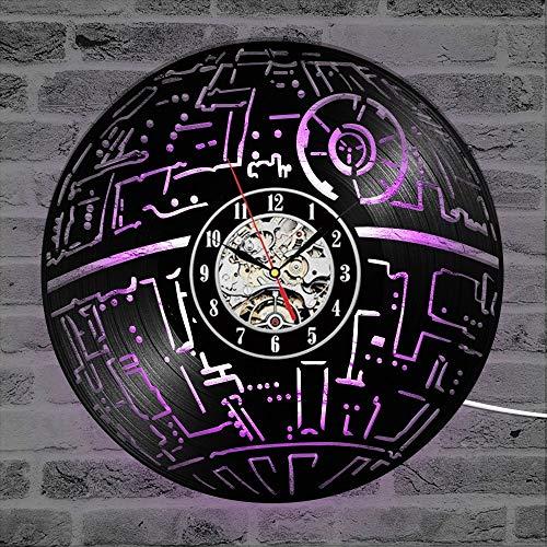 Dekorative Wanduhr 3D LED Hohlputz Interstellar Classic CD Schallplatte Wanduhr Home Decoration War