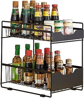 AOSEE Organiseur avec Panier tiroir Coulissant, sous évier étagère sous Evier Rack etagère de Rangement Cuisine Panier de ...
