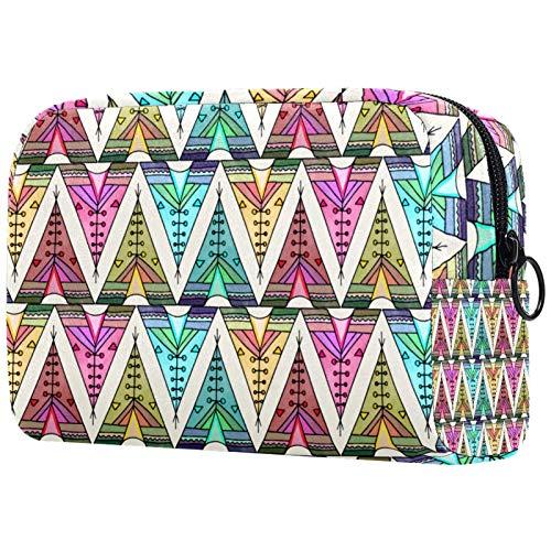 Bolsa de maquillaje personalizada para brochas de maquillaje portátil para mujer, bolso de mano, organizador de viaje, diseño bohemio Tipi