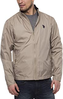 U.S. Polo Assn. Mens Basic Windbreaker Lightweight Jacket