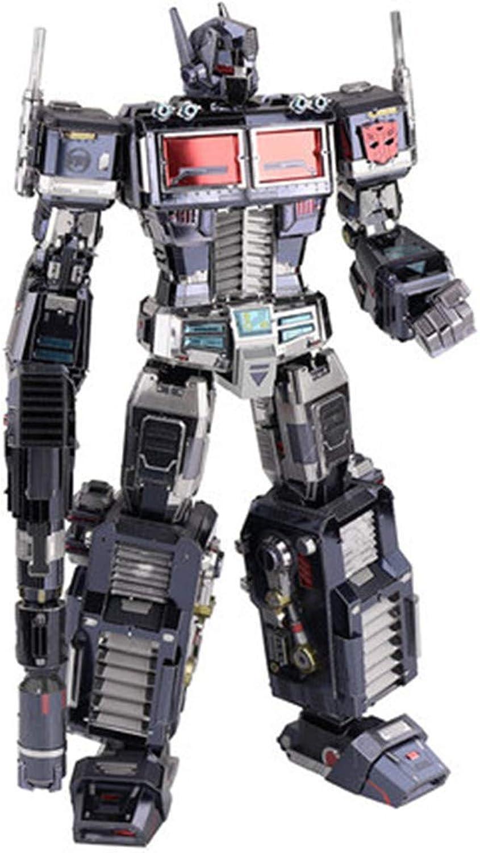 más orden MQKZ Dark Optimus Prime Versión de aleación de de de Diamante de Juguete transformado del Robot ensamblado Modelo Creativo Regalo de un Rompecabezas para Niños Negro + Herramienta A + B Un tamaño  ventas en linea