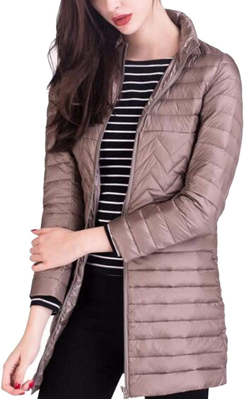 Alion Women's Light Puffer Down Coats Parka Overcoat