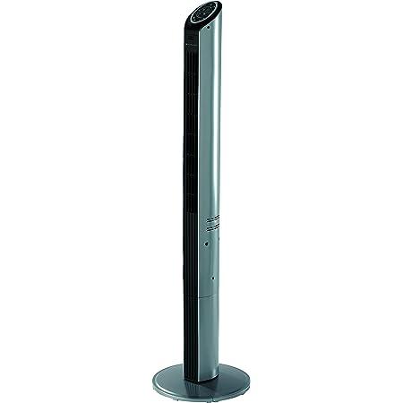 Bionaire colonne ventilateur ultra mince | modèle à oscillation programmable | hauteur 119 cm | argent/noir [BTF002X]