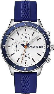 ساعة كي ويست من لاكوست بسوار سيليكون ومينا باللون الأبيض للرجال - 2010993