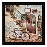 Item dimension: 13.0 X 13.0 Inches Material Type: Paper, Synthetic Wood, MDF, Without Glass Color Name: Multicolor, Black Frame Usage: Perfect for home decor, wall decoration. Paintings for living room, stairs, bed room, dining room, office, hotel, o...
