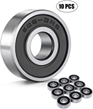 Wellgo 608-2RS Ball Bearings,Skateboard Bearings,Double Rubber Sealed Shielded Miniature Deep Groove Bearings for Skateboards Inline Skates Scooters Roller Blade Skates Long boards (10pcs)
