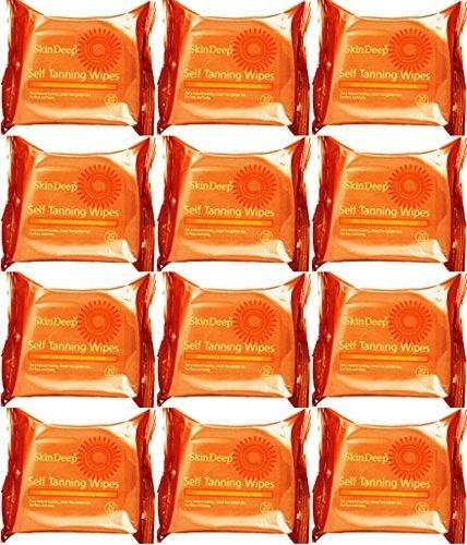 Skin Deep Self Tanning Wipes 20 Wipes x 12 Packs by Skin Deep