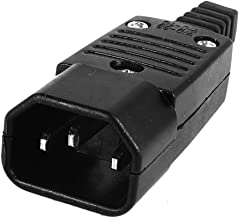 SODIAL(R) Negro IEC-320 C14 macho clavija Conector enchufe de entrada de potencia AC 250V 10A