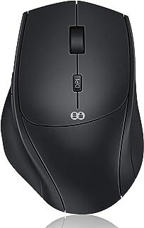 Jelly Comb Maus Kabellos, 2.4G & Typ C Wireless Maus Dual-Modus, Kabellose Maus Silent Ergonomische Funkmaus, 7 Tasten Mau...
