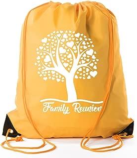 family reunion drawstring bags