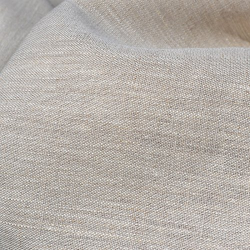 100% Linen Fabric - Textiles français Beige Natural | Superior Quality French Plain Linen Solid Fabric with a Beautiful Soft Feel and Handle (54 Inches Wide) - Per Yard