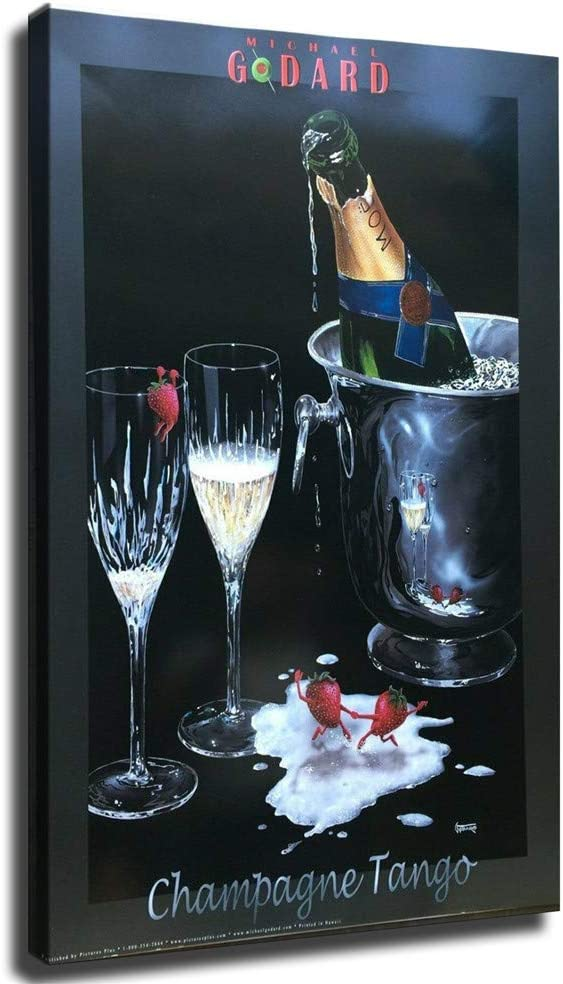 Michael Godard Champagne Tango Limited time trial price Max 52% OFF Canvas P Oil and Posters Painting