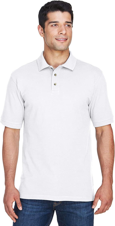 Harriton Tall 6 oz. Ringspun Cotton Piqué Short-Sleeve Polo 2XT White