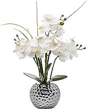 Phalaenopsis Flower Arrangement 16'' Tall Artificial Orchid Flowers Plant Ceramics Pot Arrangements for Home Office Party ...