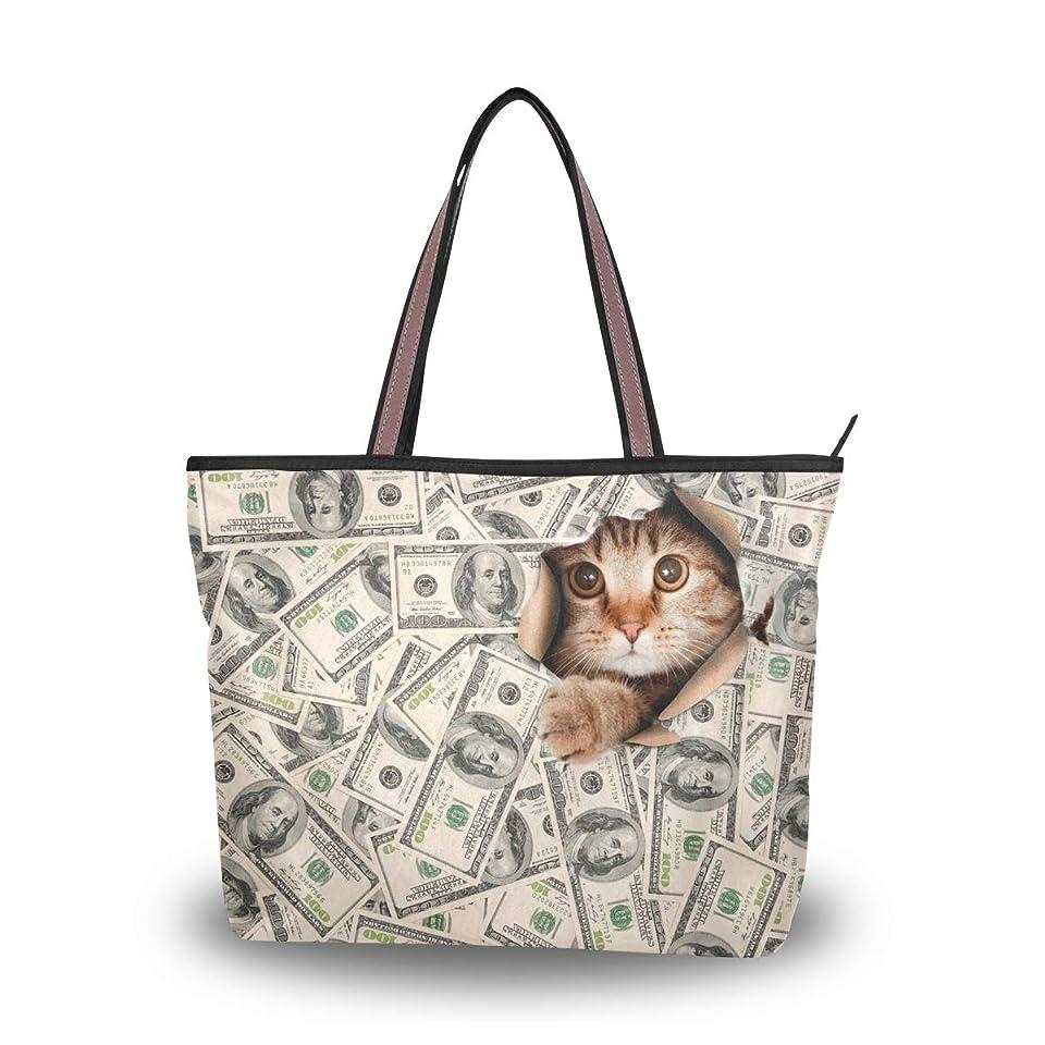 キルス差別する美徳バララ(La Rose) トートバッグ レディース 大容量 通勤 通学 軽い 布 肩掛け a4 かわいい おもしろい猫柄 ネコ ハンドバッグ 手提げ袋 おしゃれ 高校生 2way ママ 手提げバッグ キャンバス ファスナー