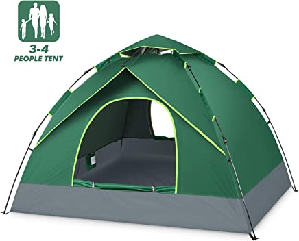 BATTOP 4 Person Tent for Family Camping Instant Pop Up...