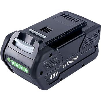 Lasica 5000 mAh 40V Lithium Battery Replacement for Greenworks 40V Battery 29472 29462 GreenWorks G-MAX 40V Cordless Tools 21332 25302 20312 20302 24312 22332 20292 22342 40 Volt Greenworks Battery
