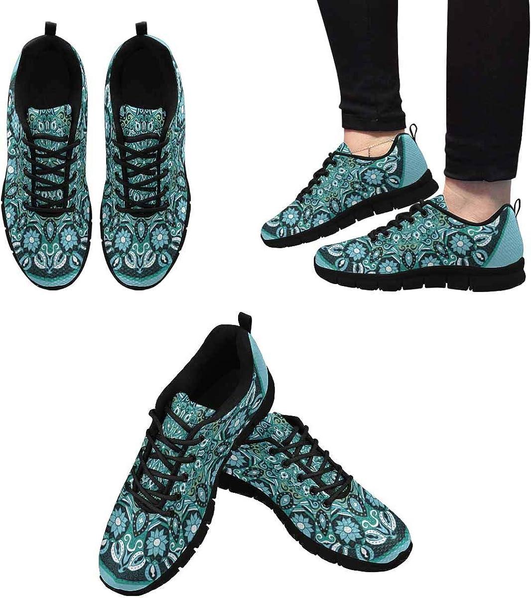 InterestPrint Mandala Lace Pattern Women's Athletic Mesh Breathable Casual Sneaker