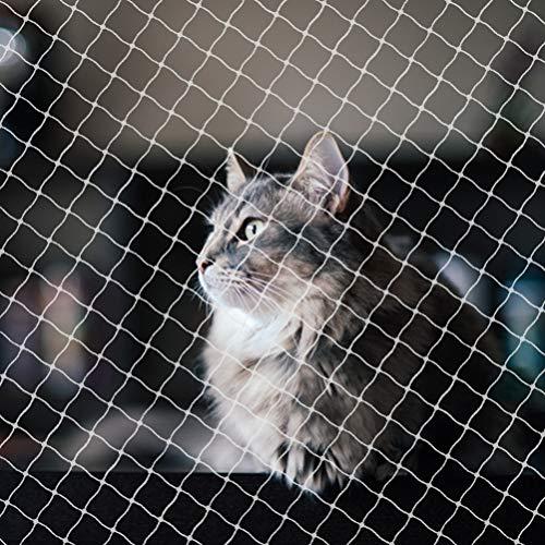 Suszian Rete di Sicurezza per Gatti, Rete Anti-Gatto Rete Protettiva per Balcone Rete di Sicurezza per Cani in Nylon Resistente ai Raggi UV