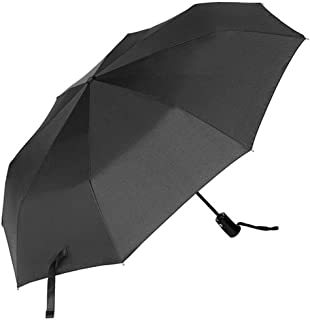 Black Umbrella, CMYK Windproof Compact Automatic Folding Travel Umbrella with Auto Open and Close, Slip-Proof Handle for Easy Carry