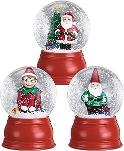 Old World Christmas Set of 3 Miniture Snow Globes
