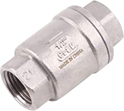 """Vertical Check Valve Spring Loaded - 1/2""""NPT Stainless Steel in-line Low Cracking Pressure CF8M WOG 1000"""