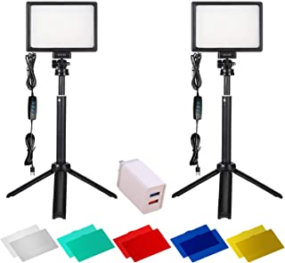 Photography Lighting 2 Packs 120 LED Light Kits for Shooting Streaming Professional, Lights for Video Recording Videos Camera & Photo YouTube Stream Cameras and Video Panel Equipment Studio Portable