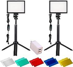 نورپردازی عکاسی 2 بسته 120 کیت نور LED برای عکسبرداری جریان حرفه ای ، چراغ برای فیلمبرداری دوربین فیلمبرداری