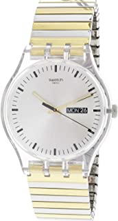 Swatch Originals Distinguo Silver Dial Stainless Steel Unisex Watch SUOK708A