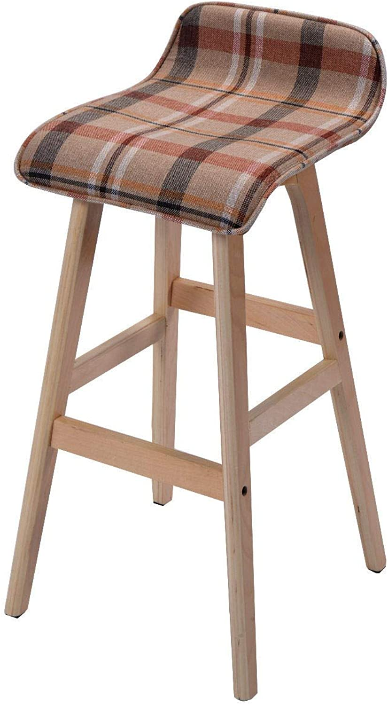 Imtinanz Modern Wood Linen Counter Bar Stool
