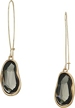 Stone Long Drop Earrings