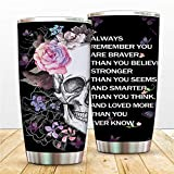 Sugar Skull 20 oz Stainless Steel Tumbler Bottle Vacuum Insulated Skullectables Mug Double Walled Coffee Cup for Travel Work Sport Ice Drinks Hot Beverage (sugar skull)