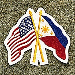 USA America/Philippine Flags Patch