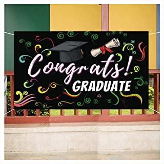 Home,Garden,Home Decor,Graduation Banner Party Decorations / Grad Photo Booth Wall Party Decor Congnats Graduate 2020 Party Decoration Banner 200cm×115cm Byj-15