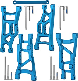 Aluminum Front & Rear Suspension A-Arms W/Tie Bar for Traxxas Slash 1/10 2WD RC Car Upgrade Parts Replace 3631 2555 2532