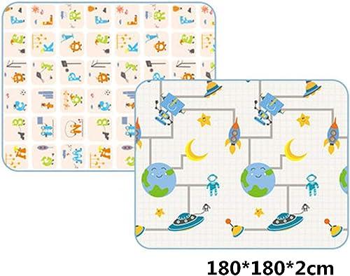 Krabbelmatte Rutschfeste XPE Verdicken 2Cm Falten Kinder Krabbeln Spielmatten Spielzeug Teppiche Indoor Spielhaus Dekoration Puzzle Matten,2