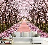 Benutzerdefinierte Fototapete 3D Romantische Kirschblüte Baum Wandbild Wohnzimmer Tv Sofa Hintergrund Wandmalerei Fresko Papel De Parede (1 Quadratmeter)