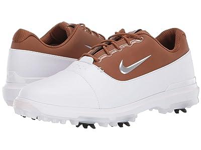 Nike Golf Air Zoom Victory Pro (White/Metallic Silver/White/Pueblo Brown) Men