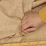 kawenSTOFFE Tweedstoff Wolle Beige Braun bunt fein