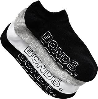 Bonds Women's Cotton Blend Logo Light No Show Sport Socks (4 Pack)