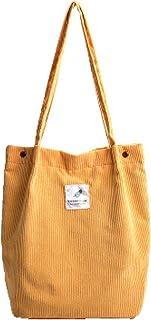 Etercycle Cord Umhängetasche Damen, Schultertasche Groß Cord Tasche Lässige Tote Handtasche Fashion Stofftasche für Allta...